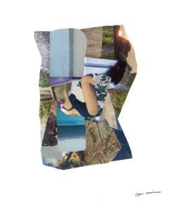 Aurore pétrifiée<br/>Collage 53 cm x 67 cm 2017