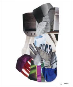 Généalogie abstraite<br/>Collage 56 cm x 73 cm 2017