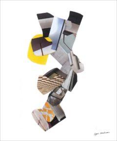 Le silence de ces espaces infinis<br/>Collage 45 cm x 123 cm
