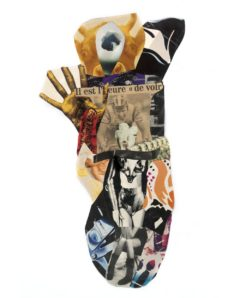 Family Schwitters, Grosz, Höch, Ray,<br/>Collage 38 cm x 88 cm    1997