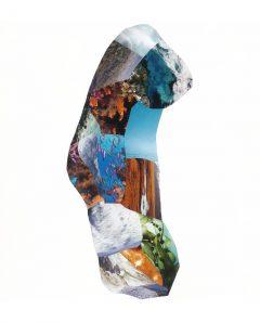 A la recherche de Lifou perdu<br/>Collage 42 cm x 85 cm 2017