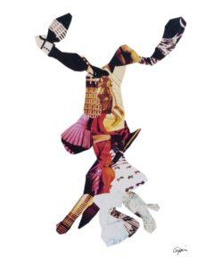 Métempsychose vitrifiée<br/>Collage  45 cm x 99 cm 1997