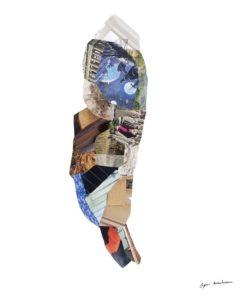 Valérian sur l'Acropole<br/>Collage 35 cm x 89 cm 2017