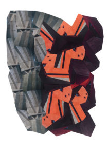 Janus tectonique 92 cm x 63 cm